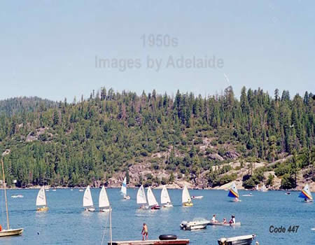 Sailboat Race on Pinecrest Lake