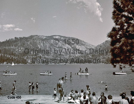 Beach Scene at Pinecrest Lake