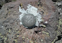 Cooper Peak Survey Marker