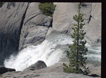 Water Flowing from Cleo's Bath Heading to Pinecrest Lake
