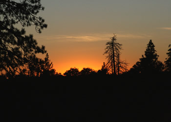 sunset in the stanislaus