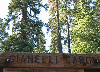 Gianelli Cabin Trailhead Sign